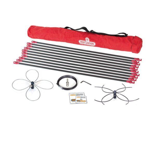 Ceramic liner power sweeping kit