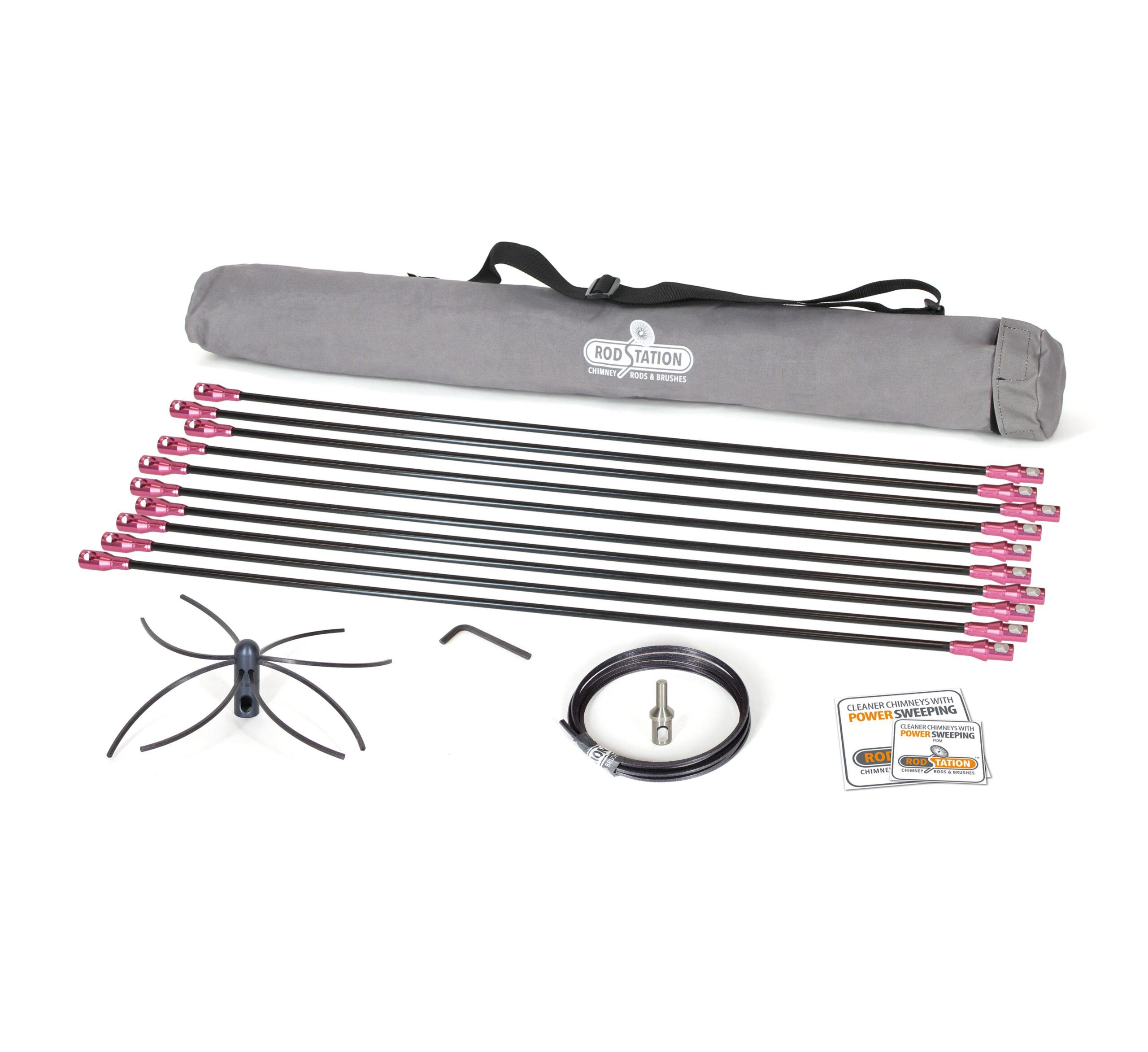 Extra flexible liner power sweeping kit