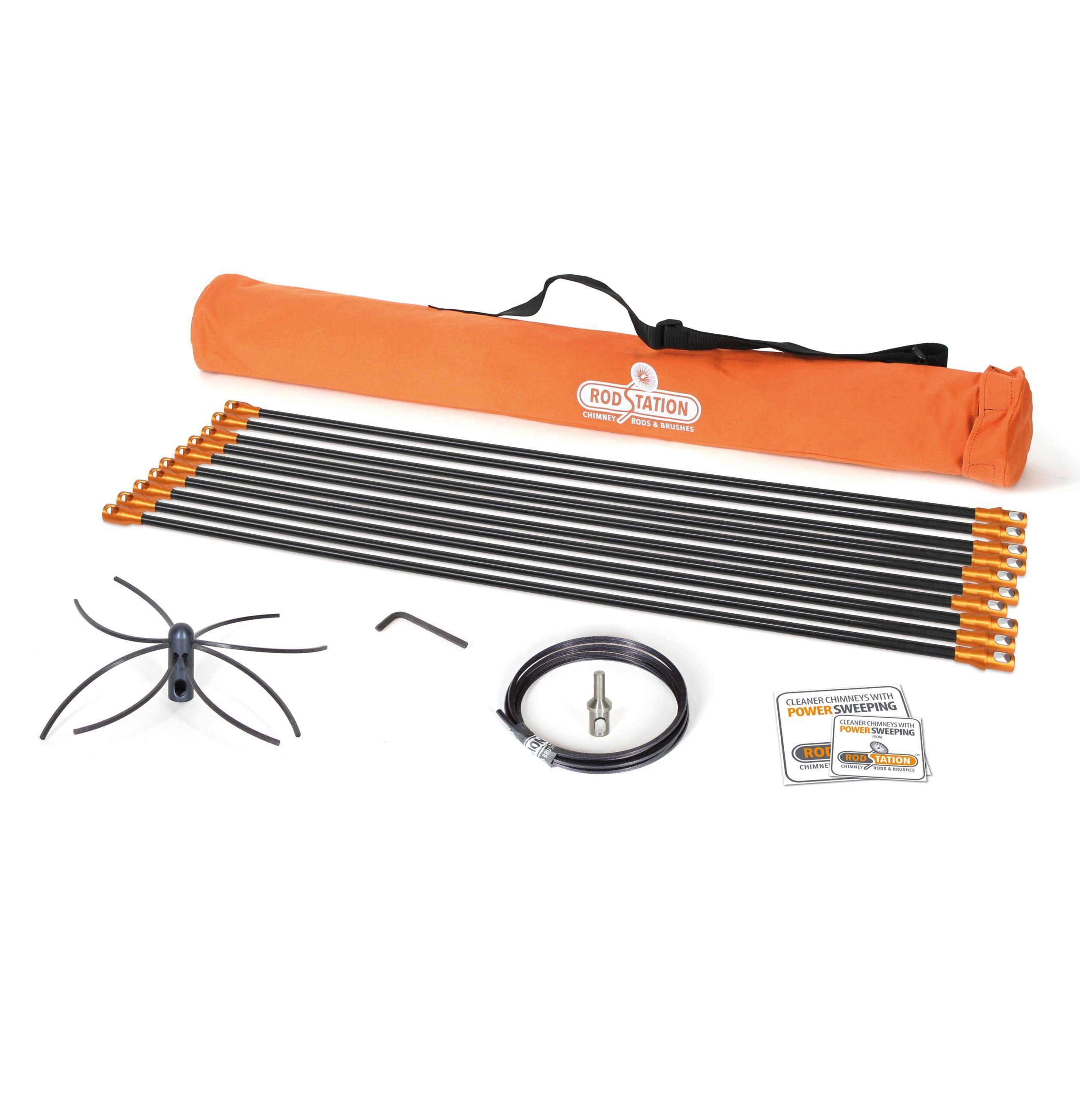 Flexible liner power sweeping kit