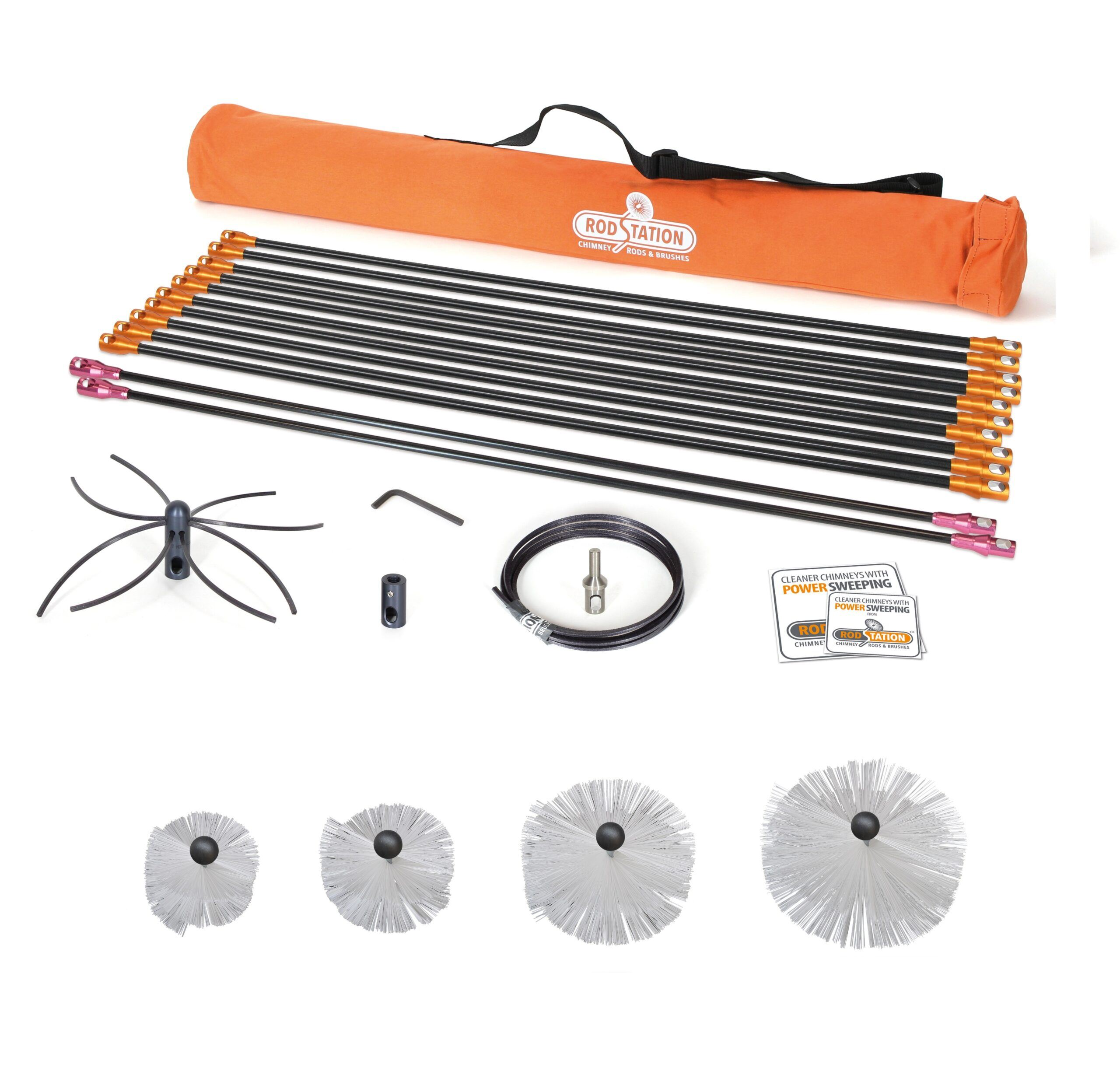 Liner power kit with manual brushes