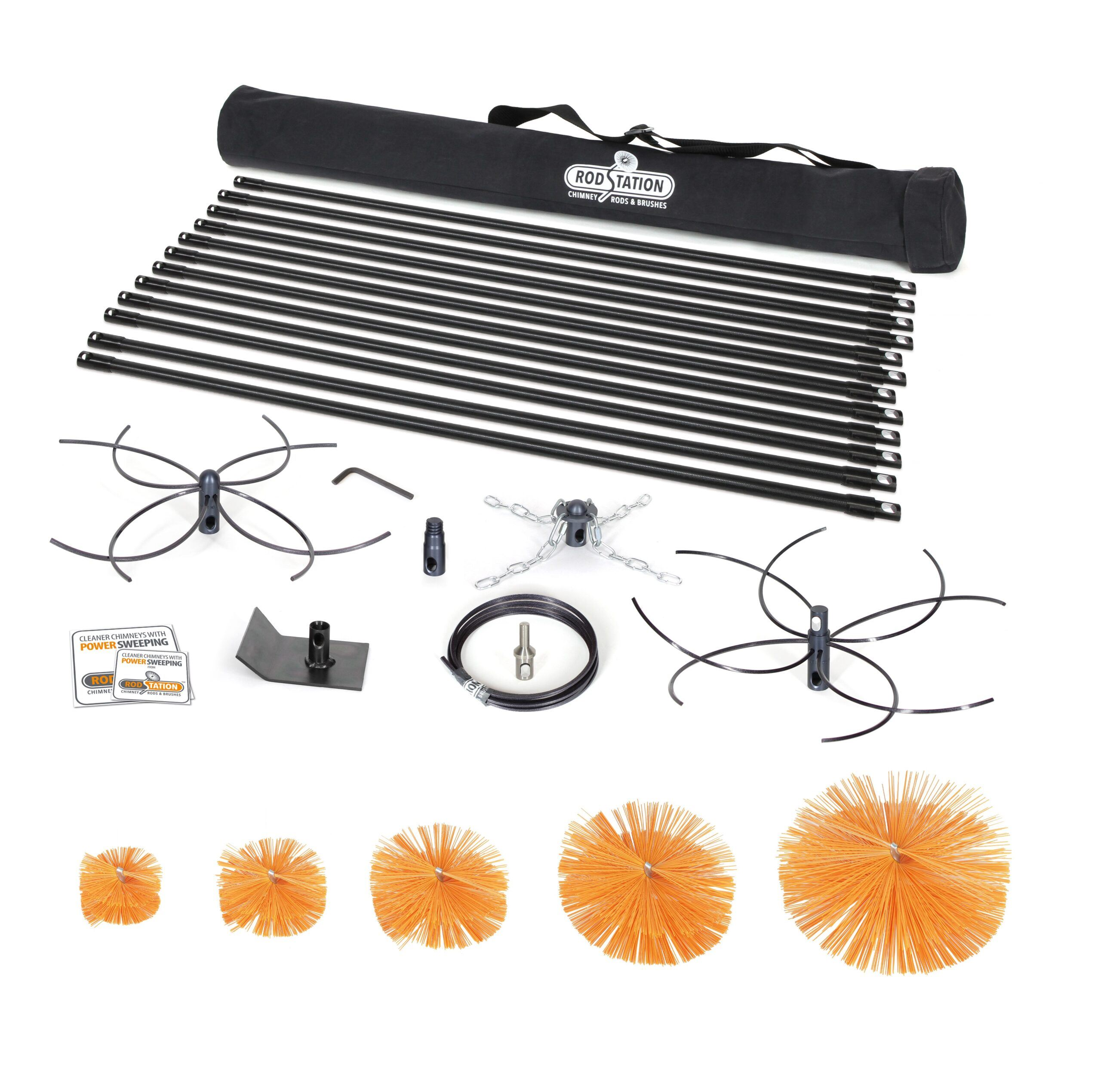 Open power kit with manual brushes