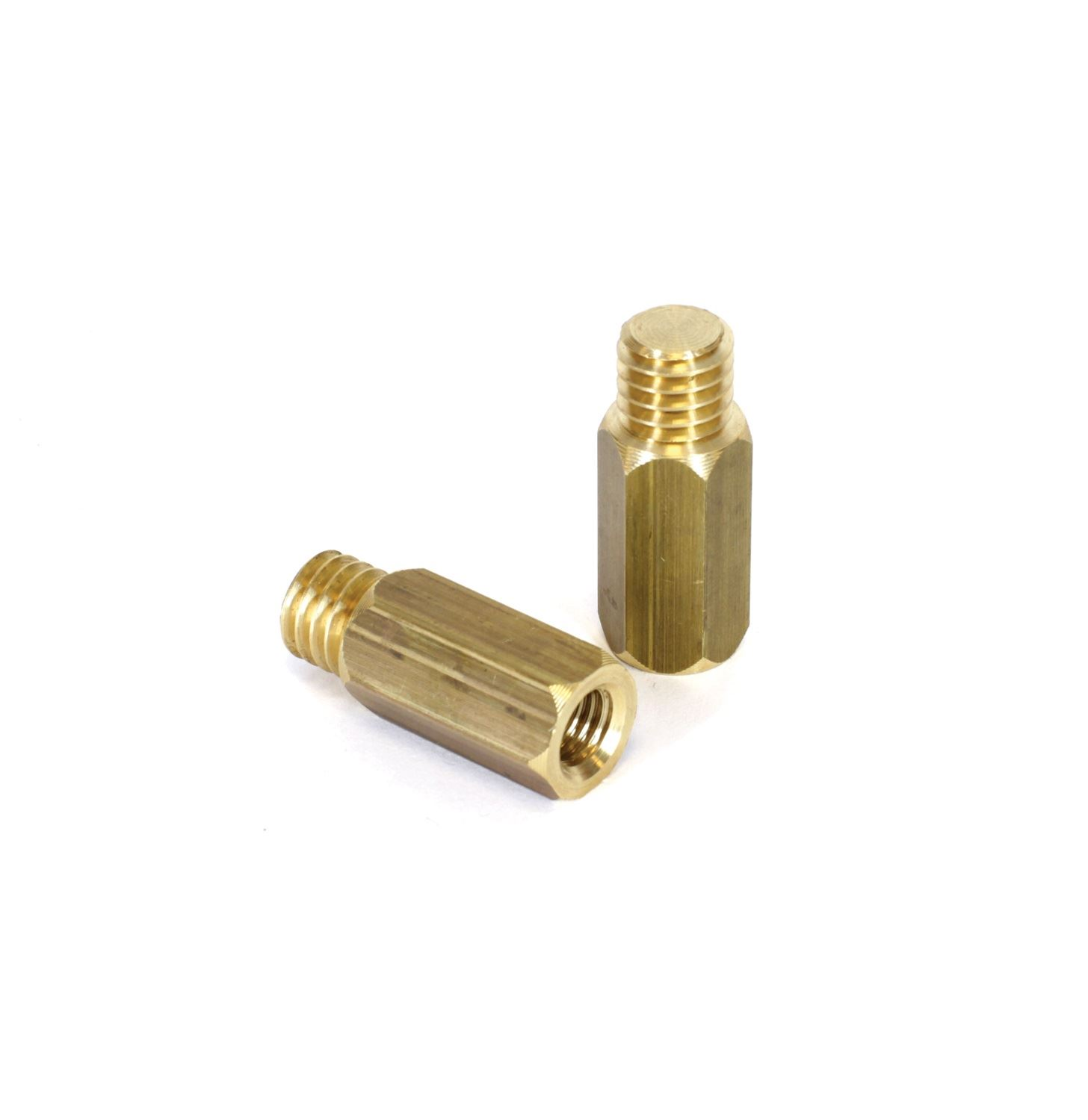 """Chimney rod adaptor from 1/2"""" Whitworth Male to M10 Female."""
