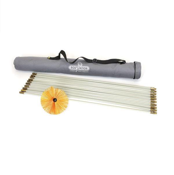 Sweeping Kit Orange Brush